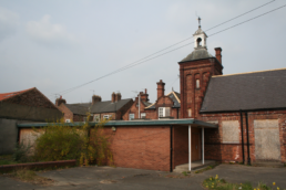 Shipton Street School dilapidation Photo of Bell Tower designged by brierley