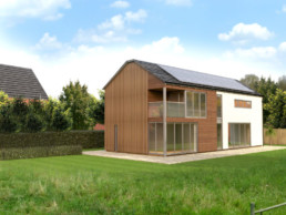 3D visualisation of External View of proposed 5 Bedroom dwelling at Park Avenue
